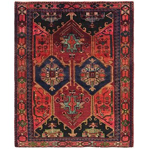 Unique Loom 5' x 6' 3 Shiraz Persian Square Rug
