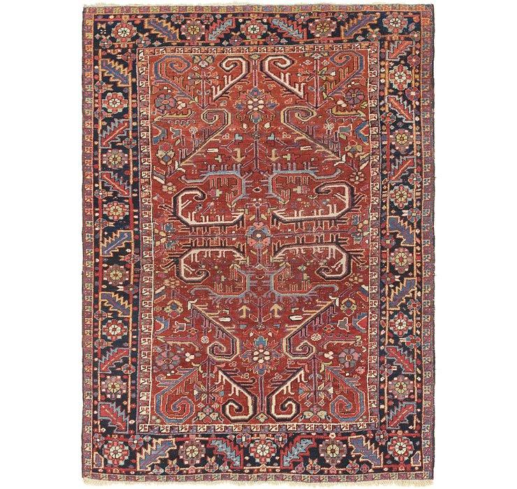 6' 6 x 8' 10 Heriz Persian Rug