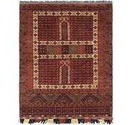 Link to 5' x 6' 6 Afghan Akhche Rug