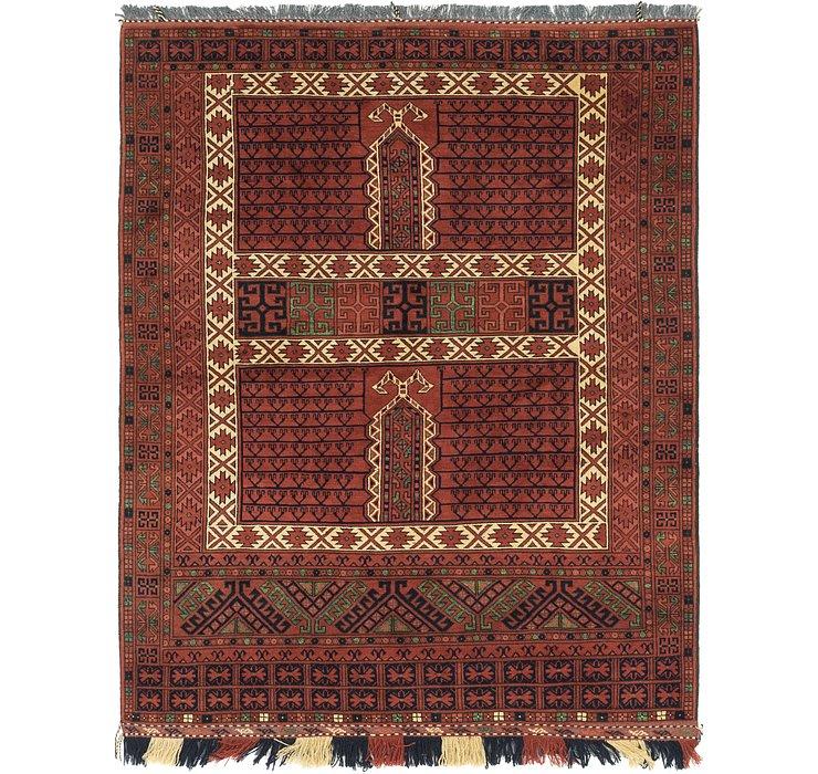 5' x 6' 6 Afghan Akhche Rug