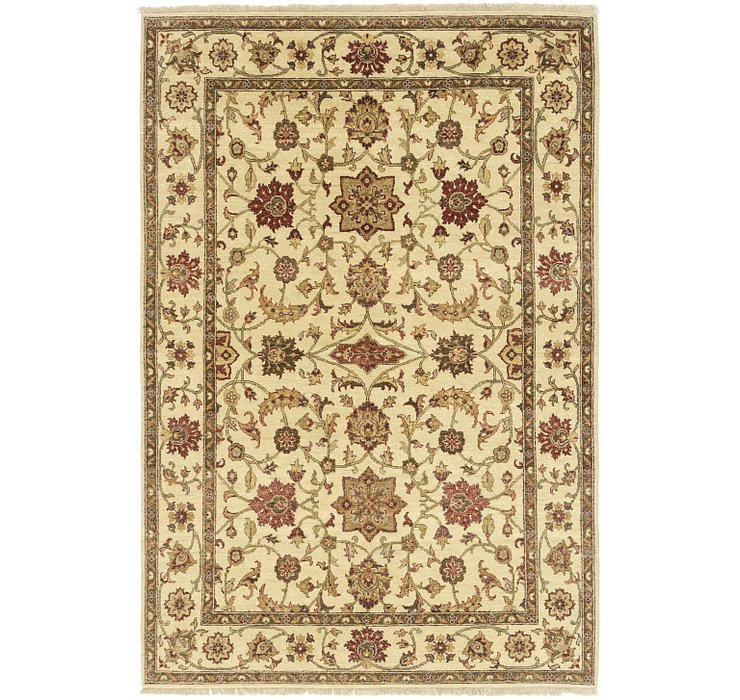 HandKnotted 5' 8 x 8' 3 Jaipur Agra Rug
