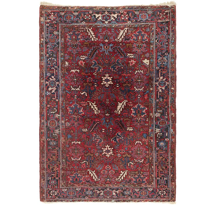 6' 2 x 9' Heriz Persian Rug