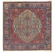 Link to 4' 8 x 4' 8 Isfahan Persian Square Rug