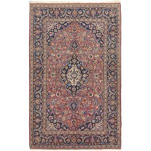 4' 5 x 7' 3 Kashan Persian Rug