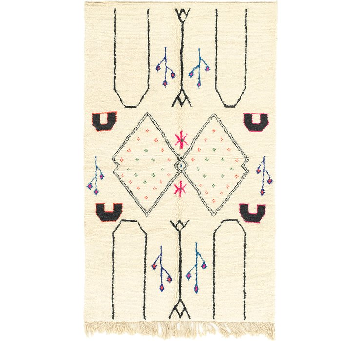 4' 9 x 8' Moroccan Rug