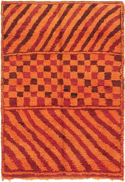 Orange  5' 2 x 7' 5 Moroccan