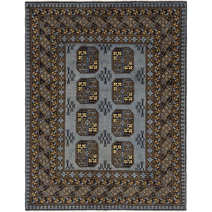 5' x 6' 8 Afghan Akhche Rug