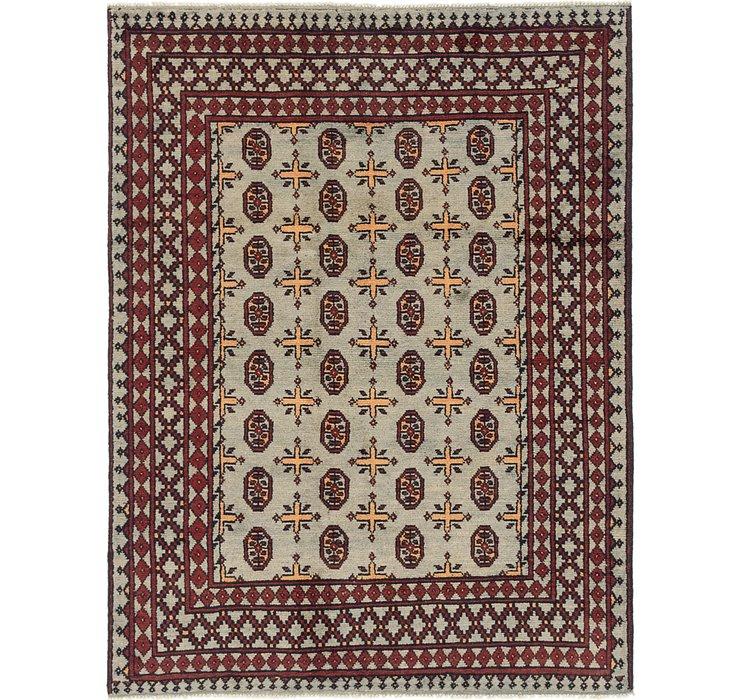 4' 10 x 6' 4 Afghan Akhche Rug