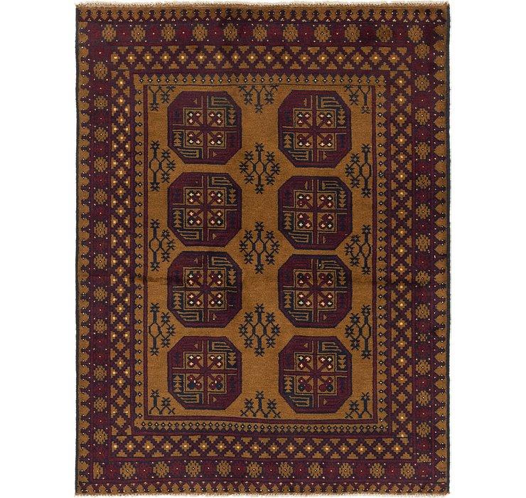 5' x 6' 7 Afghan Akhche Rug