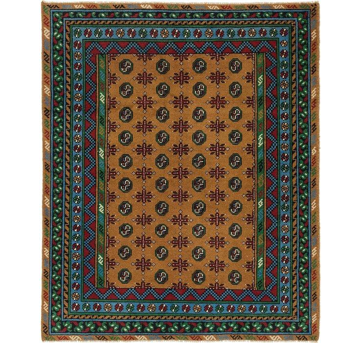 5' x 6' Afghan Akhche Square Rug