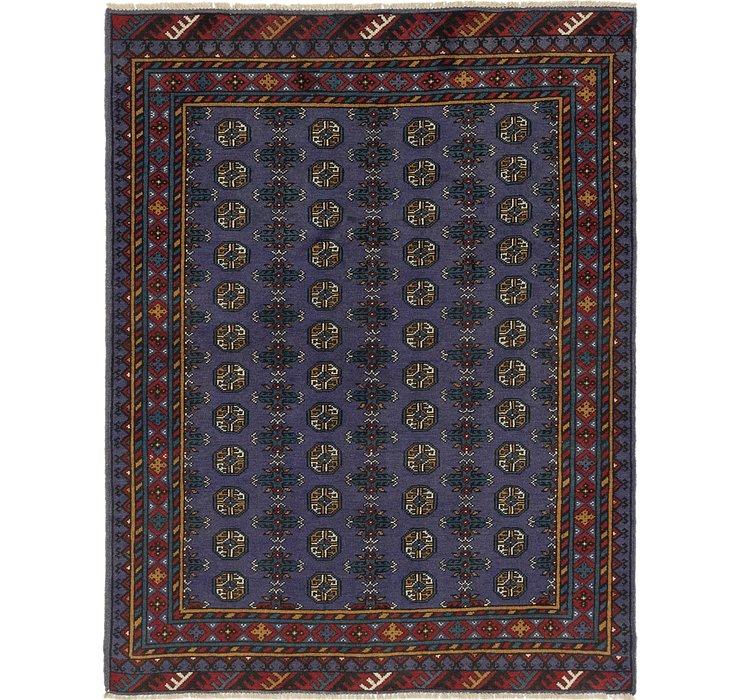 5' x 6' 4 Afghan Akhche Square Rug
