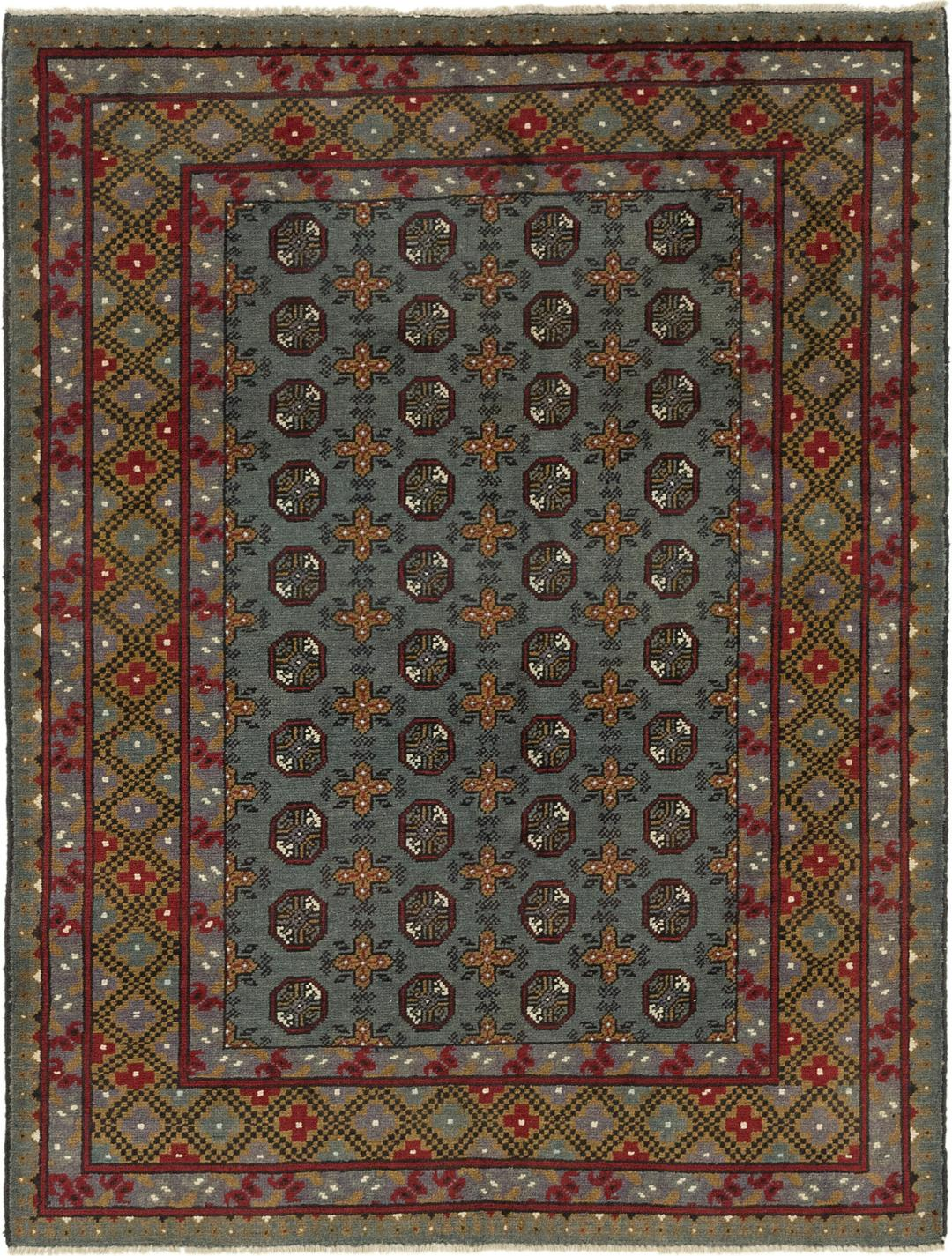 Gray 5 X 6 6 Afghan Akhche Square Rug Oriental Rugs