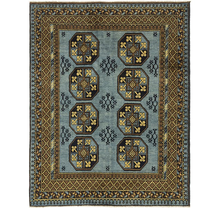 HandKnotted 5' x 6' 5 Afghan Akhche Square Rug