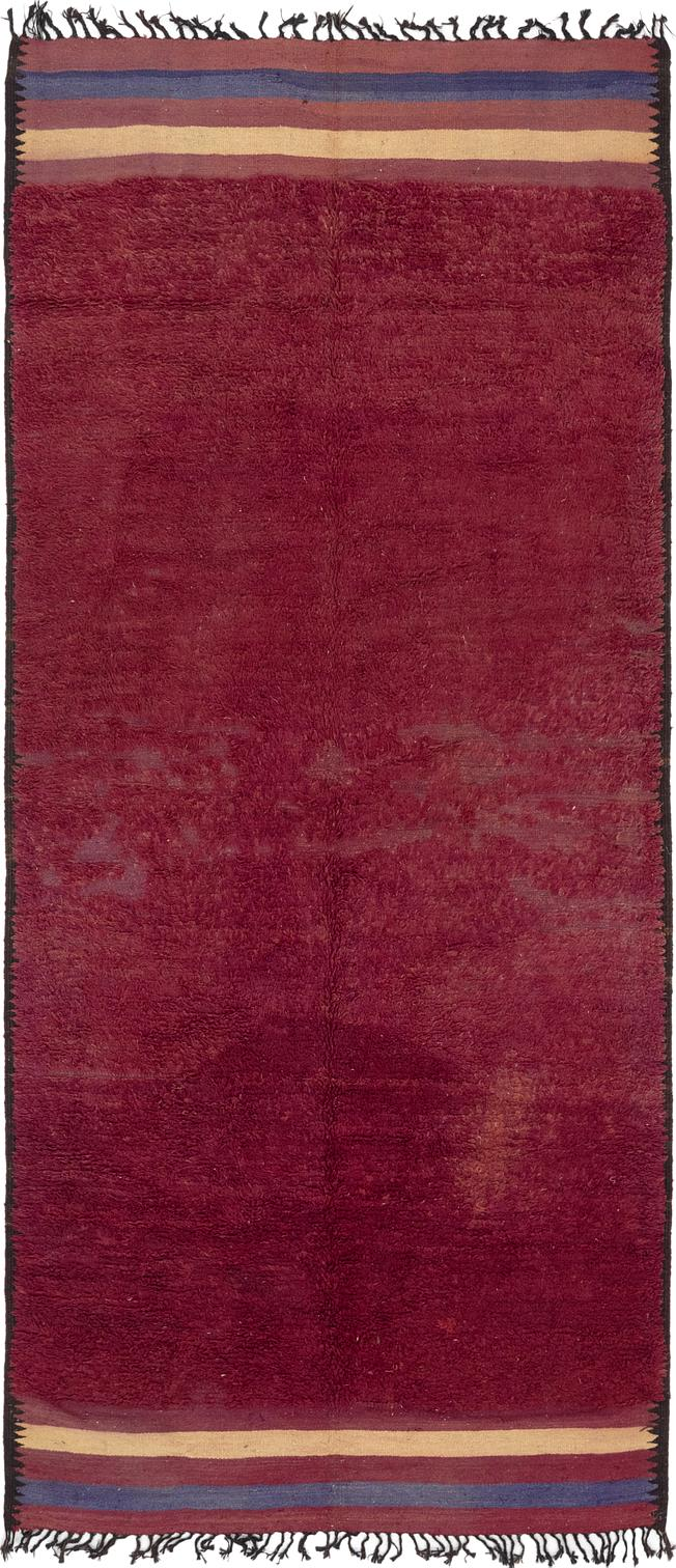 Main Handknotted 6 2 X 14 Moroccan Runner Rug Photo