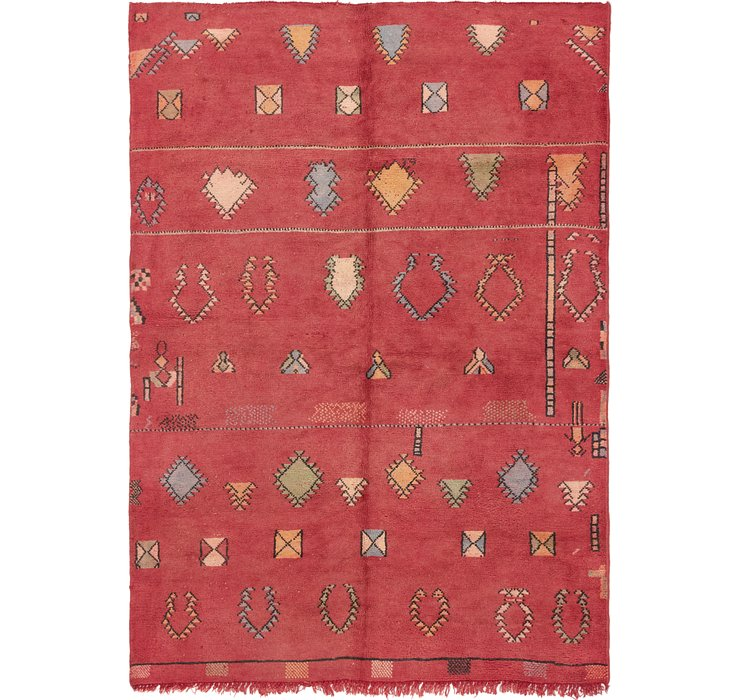 HandKnotted 6' 5 x 9' Moroccan Rug