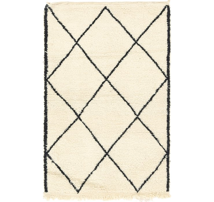 HandKnotted 3' 3 x 5' Moroccan Rug