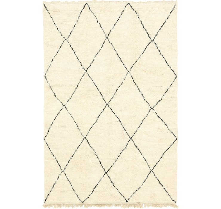 HandKnotted 6' 7 x 9' 9 Moroccan Rug