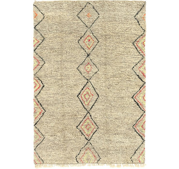 HandKnotted 6' 5 x 9' 7 Moroccan Rug