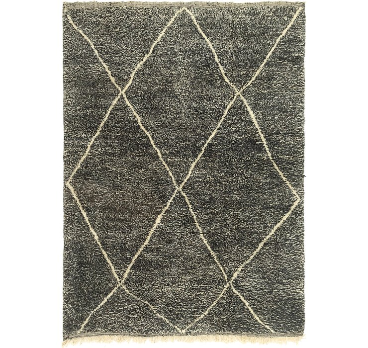 HandKnotted 6' 8 x 9' Moroccan Rug