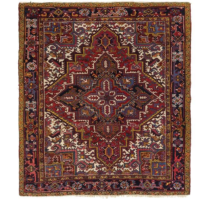 8' x 9' 2 Heriz Persian Rug