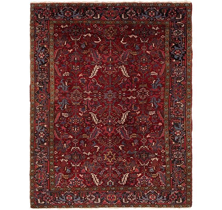 7' 3 x 9' 5 Heriz Persian Rug