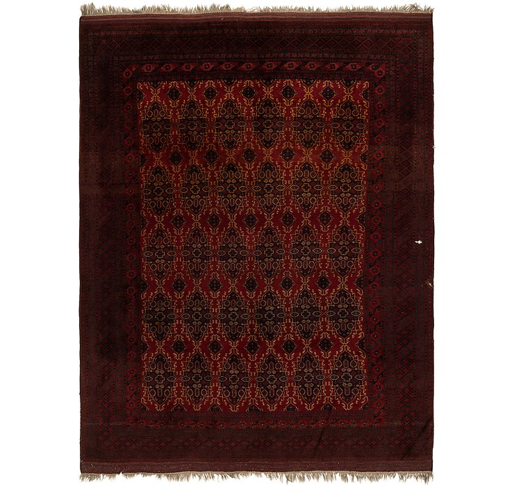 HandKnotted 10' 9 x 14' Afghan Mouri Oriental Rug