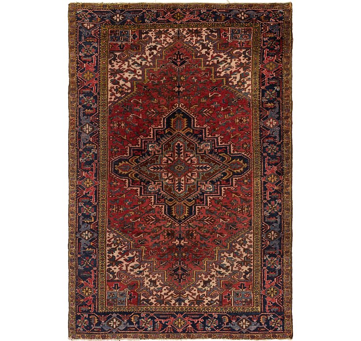 7' 6 x 11' 3 Heriz Persian Rug