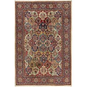 7' 3 x 10' 6 Sarough Persian Rug
