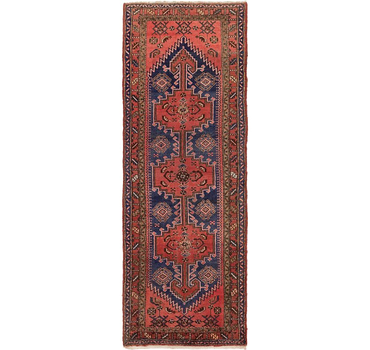 3' 7 x 10' 6 Hamedan Persian Runner ...