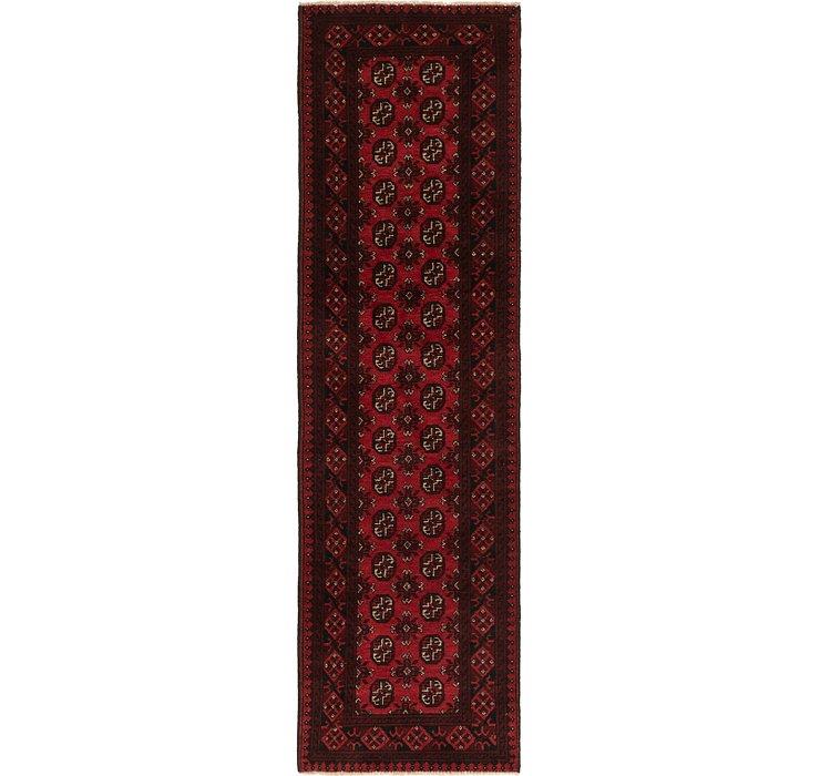 2' 9 x 9' 7 Afghan Akhche Runner Rug