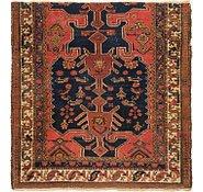 Link to 4' x 4' 3 Hamedan Persian Square Rug