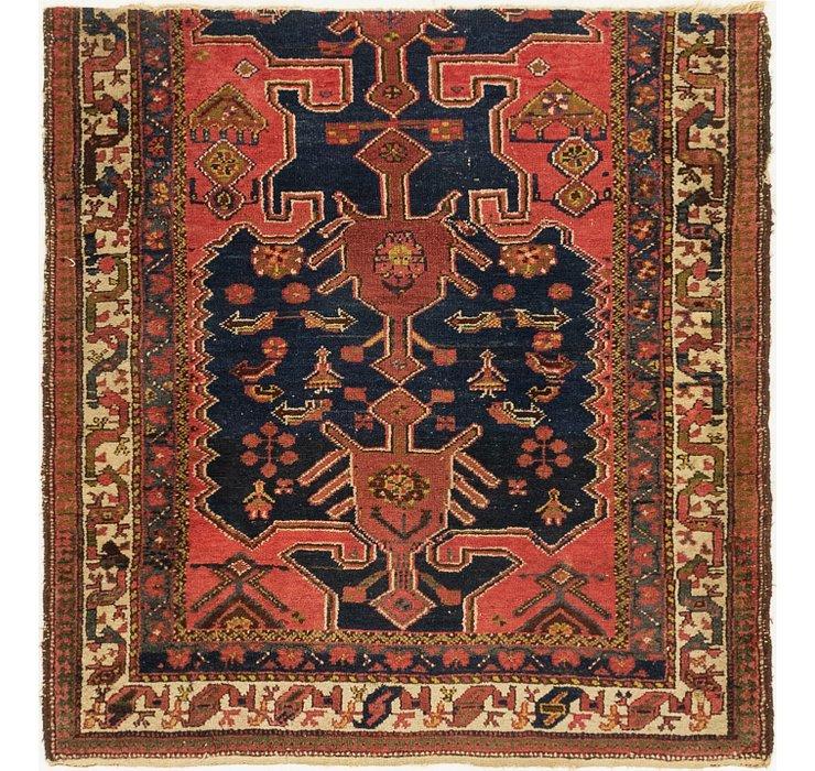 4' x 4' 3 Hamedan Persian Square ...