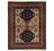 Link to 4' 4 x 5' 5 Kars Persian Square Rug