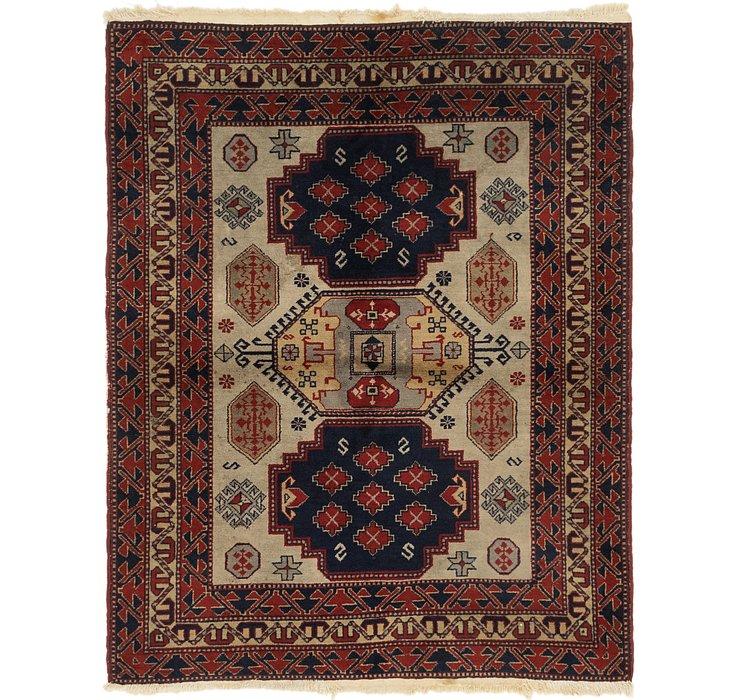 4' 4 x 5' 5 Kars Persian Square Rug