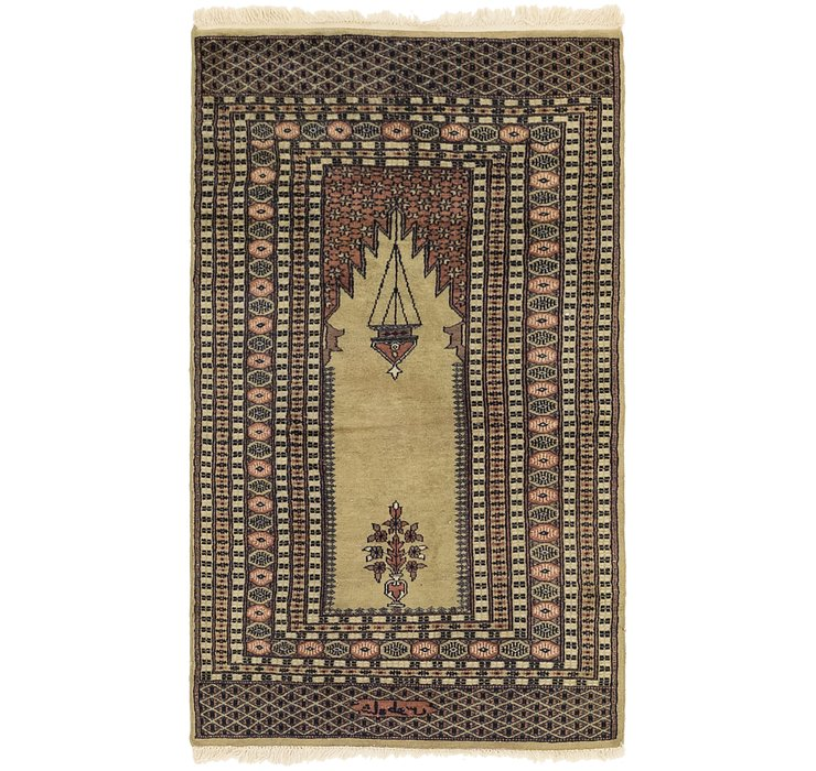 3' x 5' 4 Lahour Oriental Rug