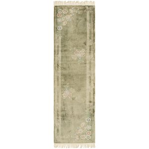 2' 4 x 8' 10 Antique Finish Runner Rug
