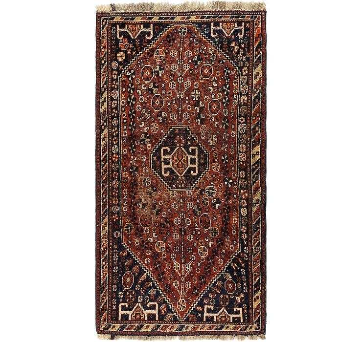 3' 2 x 6' 2 Ghashghaei Persian Runn...