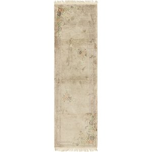 2' 8 x 10' Antique Finish Runner Rug