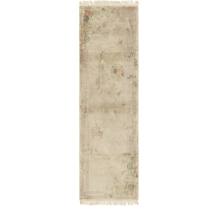 HandKnotted 2' 8 x 10' Antique Finish Runner Rug