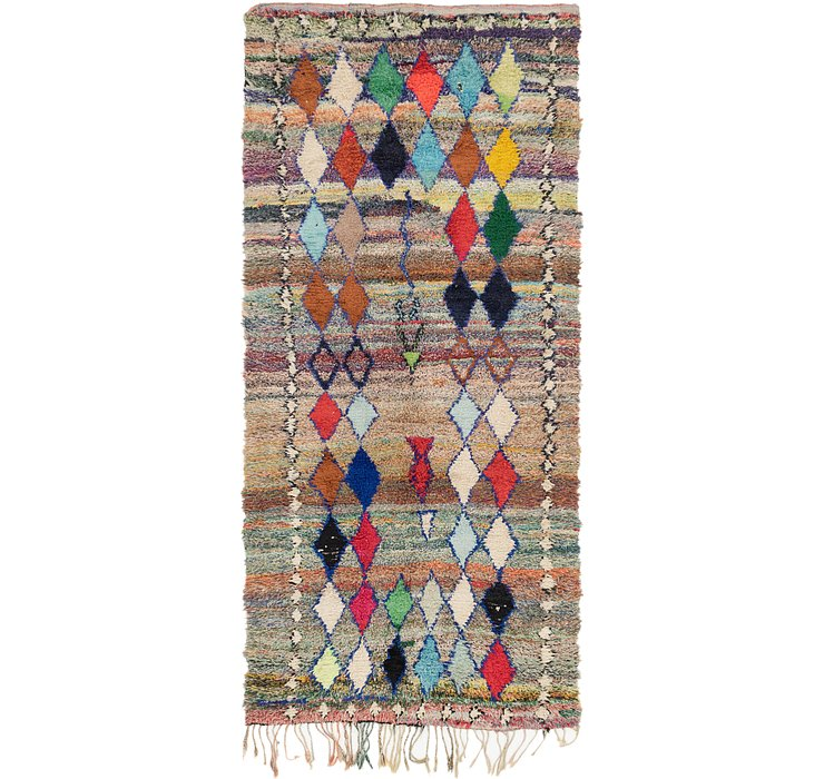 HandKnotted 4' 7 x 9' 10 Moroccan Runner Rug