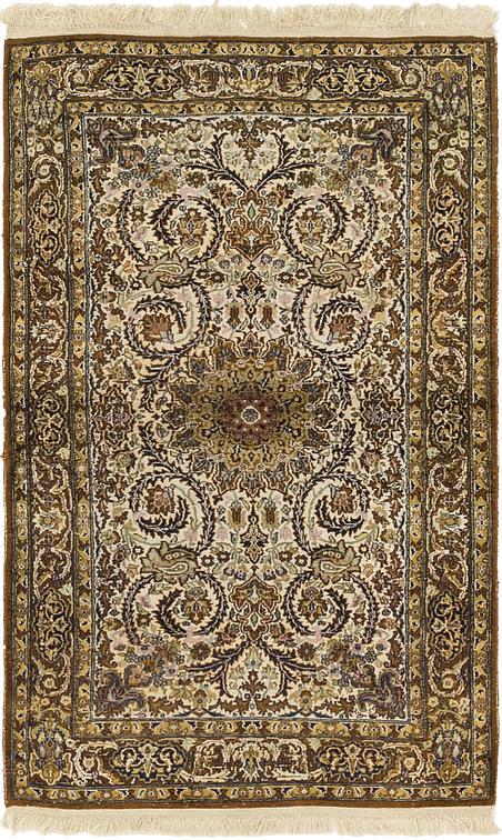 Ivory 3 X 5 Kashmir Oriental Rug Oriental Rugs Esalerugs