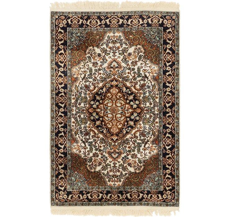 2' 7 x 4' Kashmir Oriental Rug