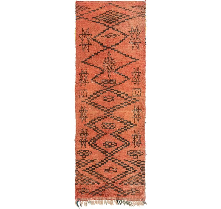 3' 3 x 9' 4 Moroccan Runner Rug