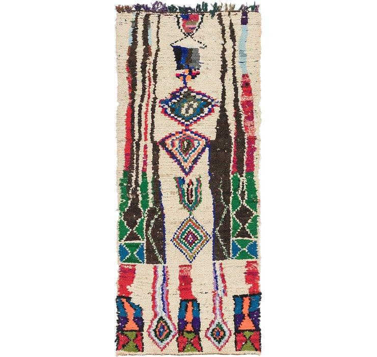 3' 7 x 8' 8 Moroccan Runner Rug