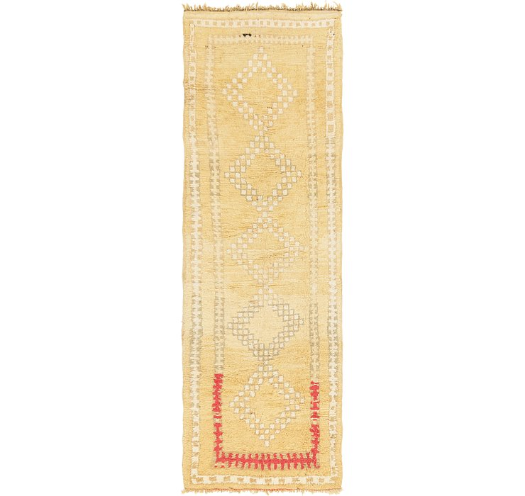 4' x 12' 2 Moroccan Runner Rug