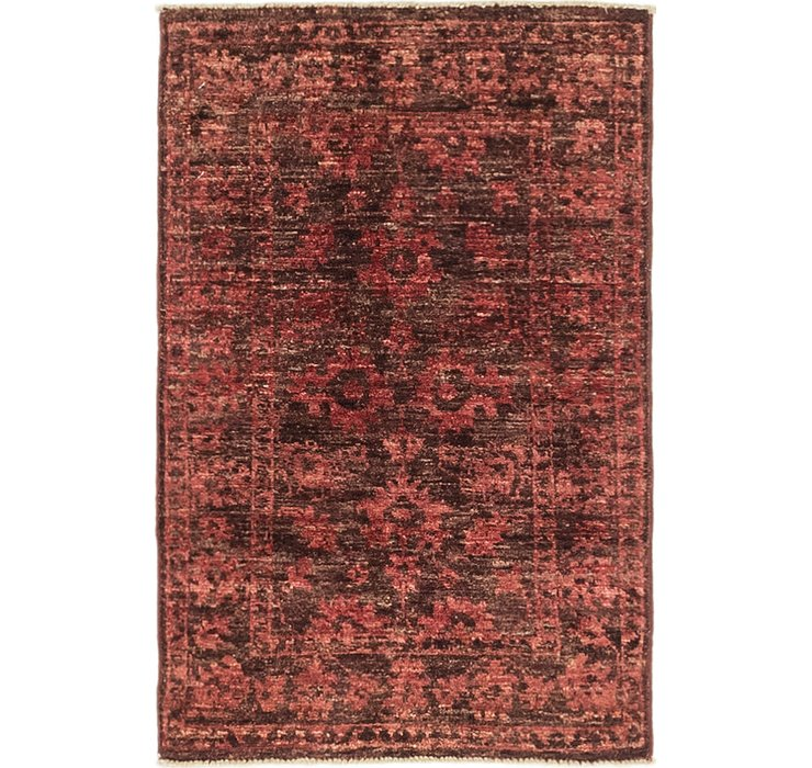 1' 10 x 2' 10 Over-Dyed Ziegler Rug