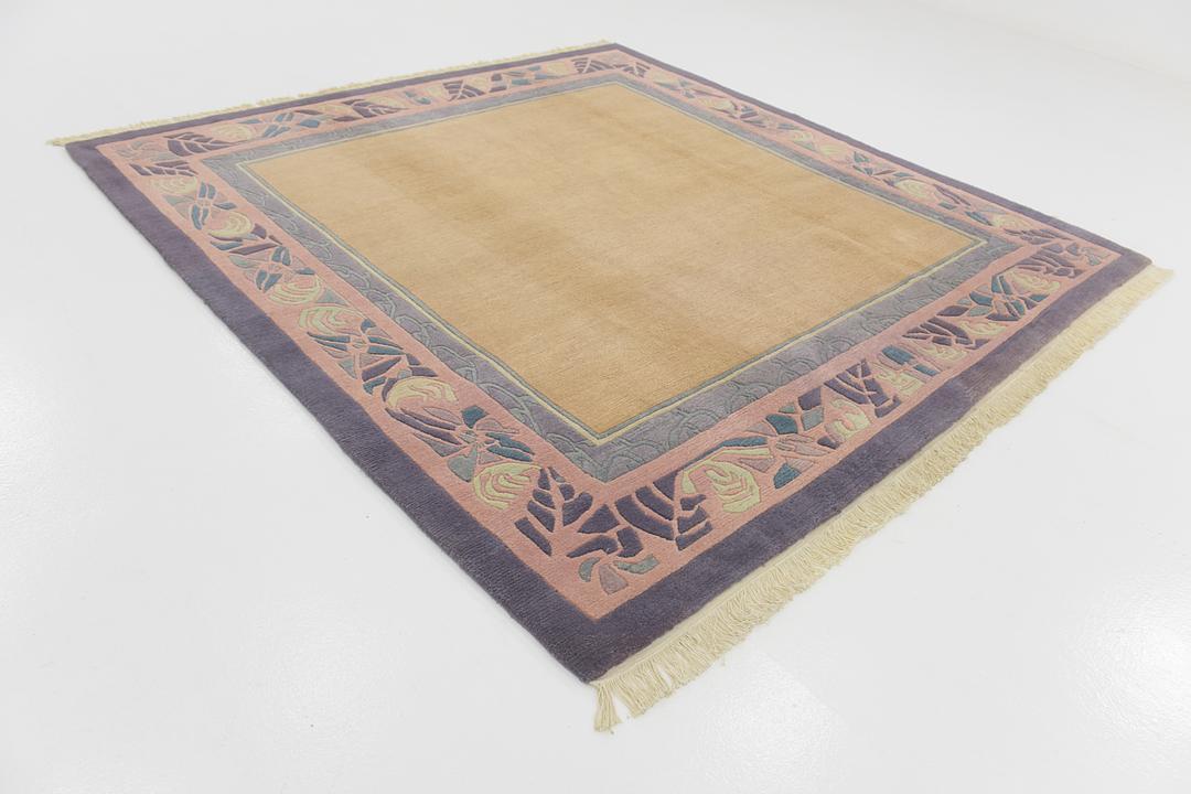 Cream 8 3 X 8 8 Nepal Square Rug Oriental Rugs Handknotted Com