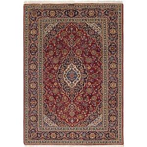 7' x 10' 4 Kashan Persian Rug