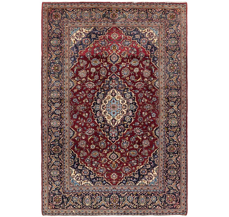 6' 6 x 9' 5 Kashan Persian Rug