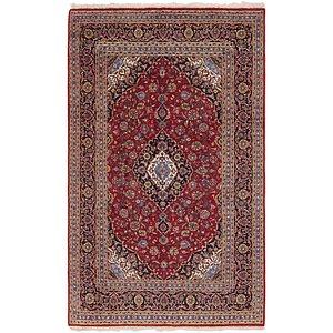 6' 7 x 11' Kashan Persian Rug